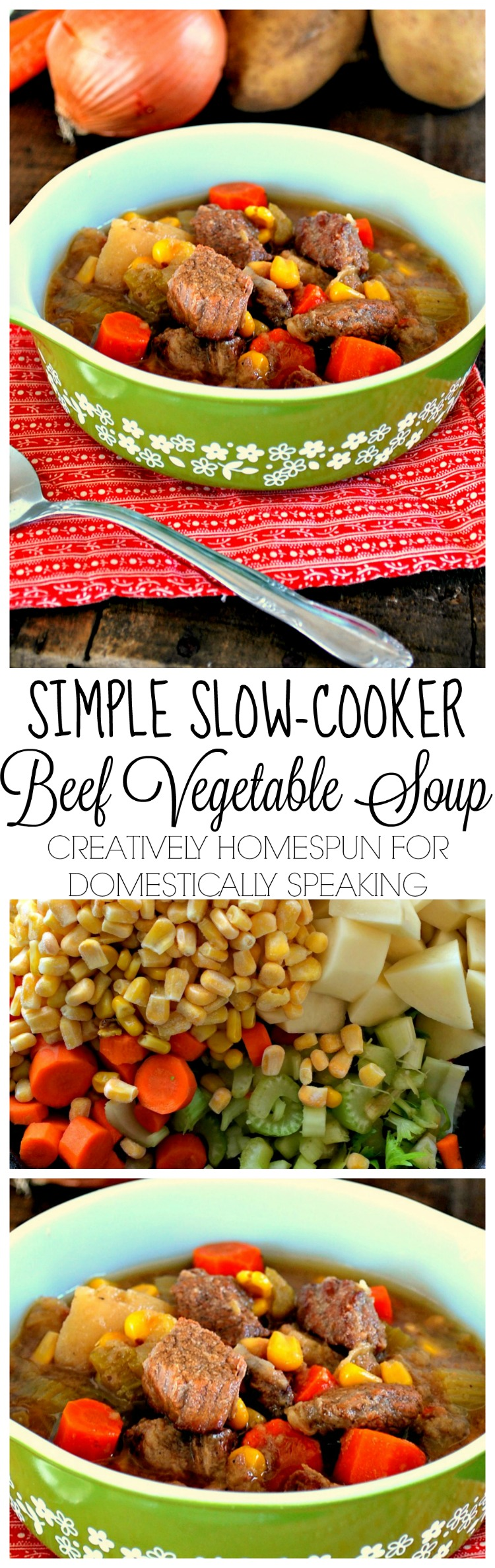 Simple Slow Cooker Beef Vegetable Soup an easy weeknight recipe for your crockpot